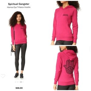 Spiritual gangster size S Hamsa Eye Tribeca Hoodie